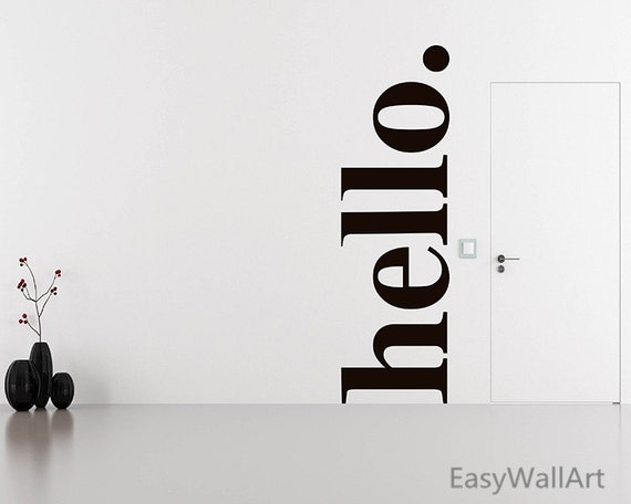 Like this item? & Hello Wall Decal Quotes Hello Door Decal Welcome Wall