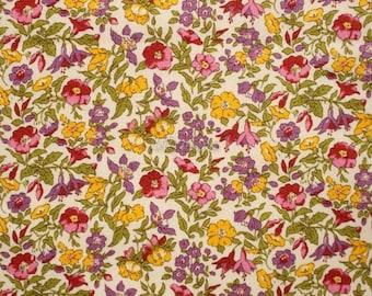 SALE - Liberty tana lawn printed in Japan - Tiny Mamie - Rose purple mix