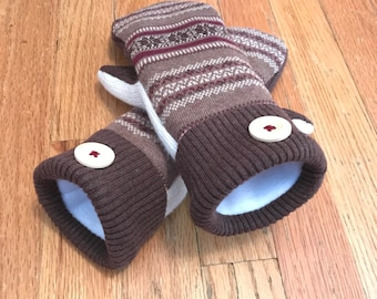 UpCycled Sweater Mittens Adult Size