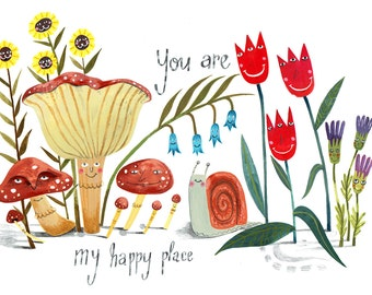Happy Place Greetings Card