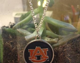 Auburn University necklace, Auburn University jewelry, Tigers necklace, college necklace, college jewelry