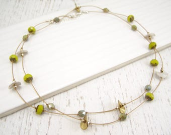 Chic Wrap Necklace - Lemongrass & Stone