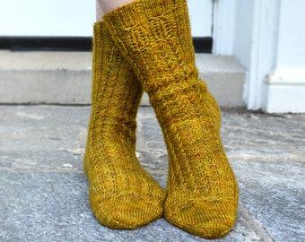 Tortoise Shells Socks Knitting Pattern PDF
