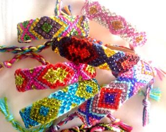 MULTICOLOR Rhinestone Friendship Bracelet, Stacking Bracelets, Arm Candy, BFF, Purple, Bright Green, Fuschia, Yellow, Turquoise