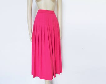 Pink Skirt, UK14, Pleated Skirt, Pink Clothes, Vintage Clothing, Wedding Skirt, Prom, Party, Pink Skirt, Girly, Wedding Skirt