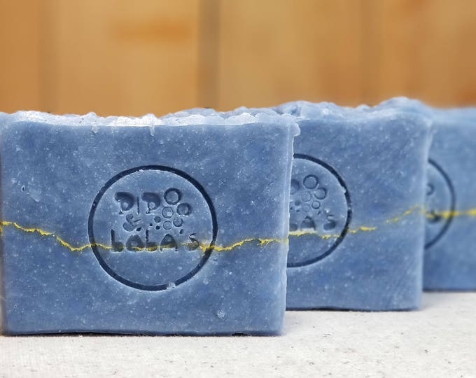 "Aqua Spa Scented Soap ""Caliban"" Soap Goddess Loves Shakespeare Soap, handmade, lightly scented, yogurt soap, free shipping"