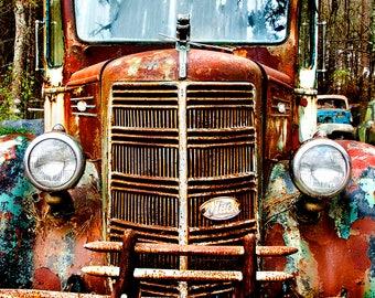 1930s Mack Truck Semi Front Grill Photograph