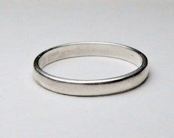 Vintage Sterling Silver Simple Stackable Style Band Size 8