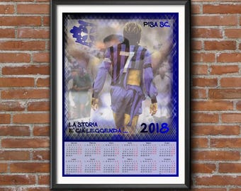 Pisa S.C Printable Calendar 2018
