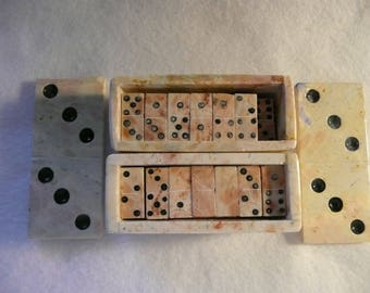 Collectable Marble Mini Dominoes with Box