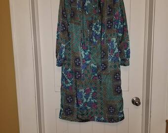 Bohemian Print Tunic Dress