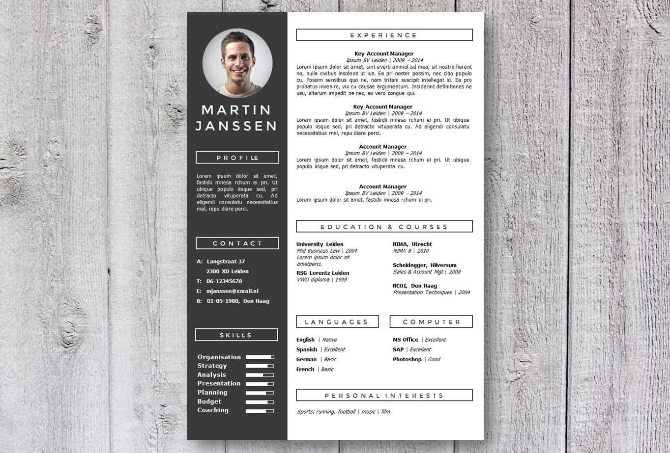 Modern resume template cv template get noticed creative zoom yelopaper Image collections