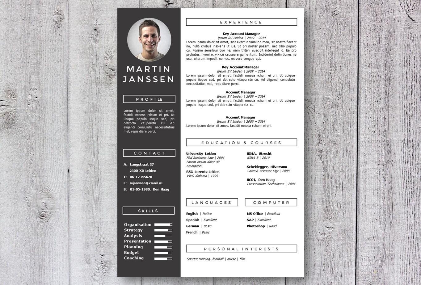 Moderne Lebenslauf Vorlage / CV Vorlage Bemerkt Kreative