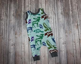 Baby romper - Toddler Romper - Baby Girl Romper - Baby Boy Romper - Newborn Romper - Harem Romper