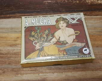 A Mucha Playing cards Reynaud, vintage cards, art cards