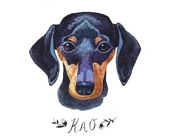 Custom Dog Portrait. Custom Pet Portrait. Custom Pet Painting. Pet Painting. Dog Portrait. 5x7in