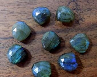 40% Sale -- Labradorite ,  11- mm Size, Cut Stone , Trilian  Shape , 4 pcs.