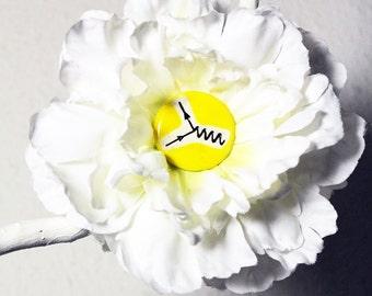 Feynman Diagram Flower Hair Clip in White