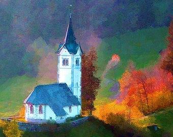 Church in the Austrian Alps