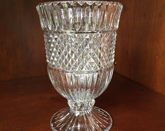 Cut Glass Goblet/Vase