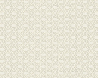 Lewis & Irene Harbour Side Patchwork Quilting Fabric A176.1 - Cream fishermans knot