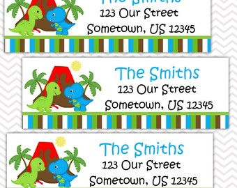 Dinosaur  - Personalized Address labels, Stickers, Baby Shower, Birthday