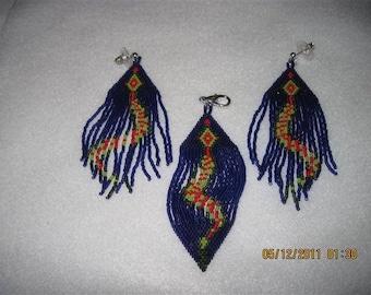 Native Style Snake Earrings