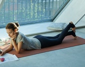Black Yoga Leggings With Spats / Handmade / Gift For Her / Women / Extra Long Leggings / Yoga Leggings / Yoga Wear By Arya Sense LWSP13BL