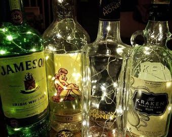 Liquor Bottle Lamps