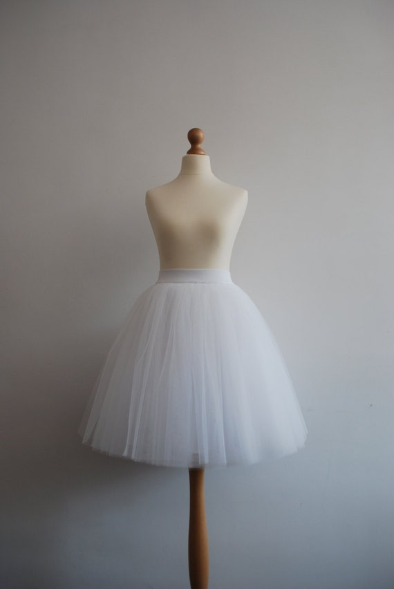 White swan - simple white tulle skirt