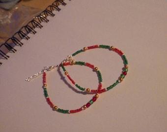Christmas Beaded Bracelets