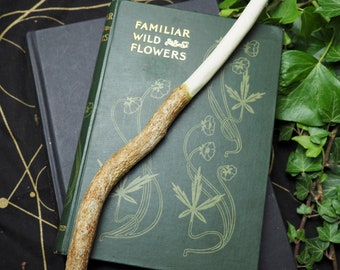 White Jasmine Wiccan Wand - For Love, Moon, Sensuality - Pagan, Wicca, Witchcraft - Hand-carved