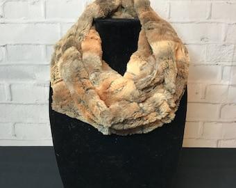 Minky scarf, faux fur scarf, soft scarf, warm scarf, winter scarf,
