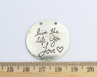 2 Live the Life You Love Charms - EF00054