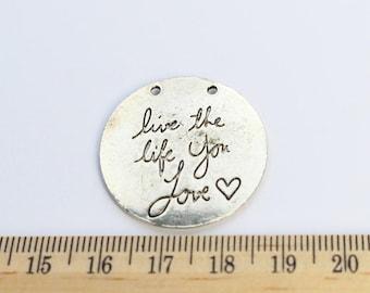 2 Live the Life You Love Charms - EF00054