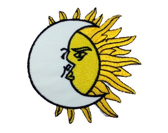 Moon and sun patch