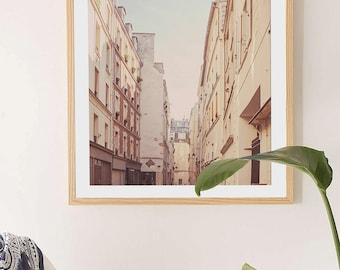 "Nostalgic Paris Photography // Paris Prints // Paris Bedroom Art // Neutral Wall art and french decor for a modern home - ""Paris Alley"""