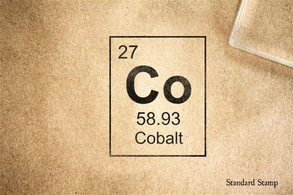 Sello de goma cobalto tabla peridica 2 x 2 pulgadas sello de goma cobalto tabla peridica 2 x 2 pulgadas urtaz Image collections