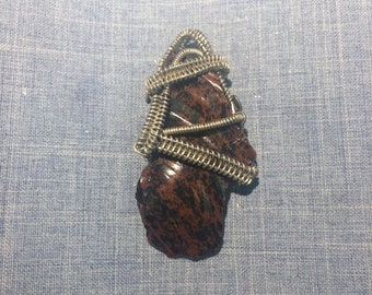 Obsidian and Sterling Silver Pendant