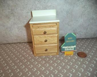 1:12 scale dollhouse miniature Vintage Kitchen Side Cabinet