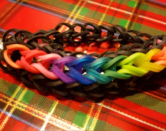 Rainbow Loom Teardrop Stretchy Bracelet
