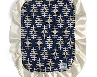 Baby Lovey Blanket - Navy - Lovey Blanket - Diamond