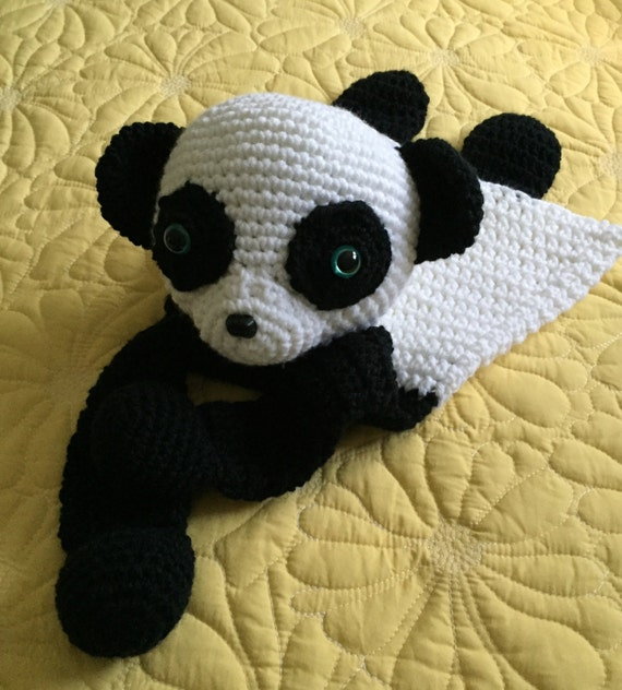 Black and White Panda Rag Doll Toy/Lovey