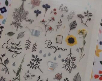 The Secret Garden Flower Sticker (1 sheet)