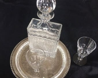 Classy Crystal Scotch or Whiskey Decanter
