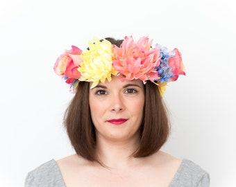 Candy;  Flower Crown, Floral Crown, Festival Headpiece, Boho Wedding, Wedding Flower Crown