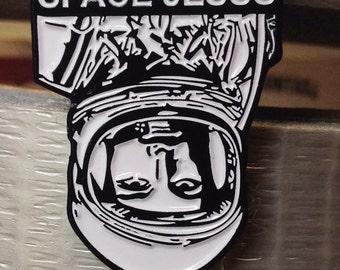 Space Jesus Enamel Pin by Print Mafia®