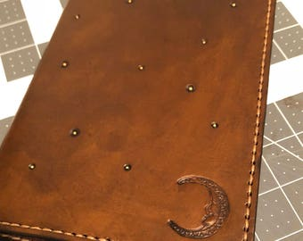 Composition notebook cover, handmade leather composition notebook cover