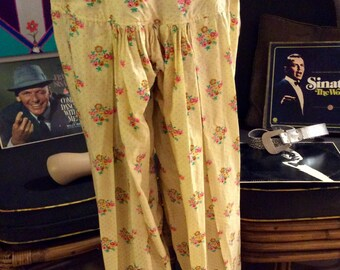 Vintage 20's Vamp Bohemian Raw Silk Lounging pants PRICE REDUCED