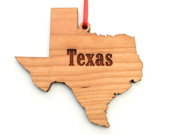 Texas State Ornament - Texas Cut Out Wood Christmas Ornament